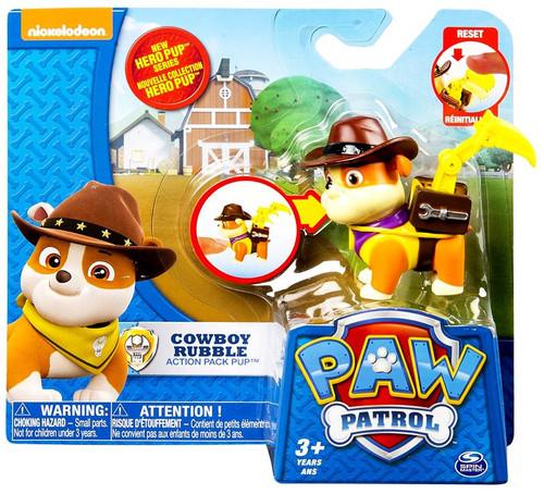 Paw Patrol Action Pack Pup Cowboy Rubble Figure