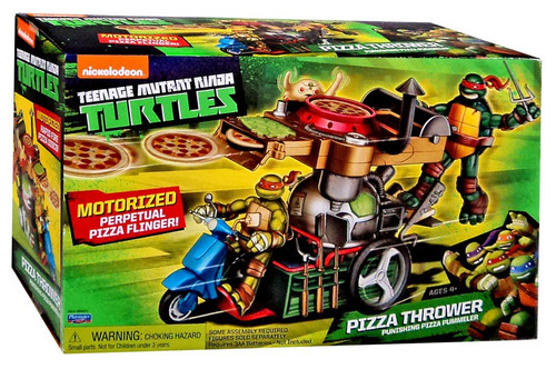 Teenage Mutant Ninja Turtles Nickelodeon Pizza Thrower Action Figure Vehicle