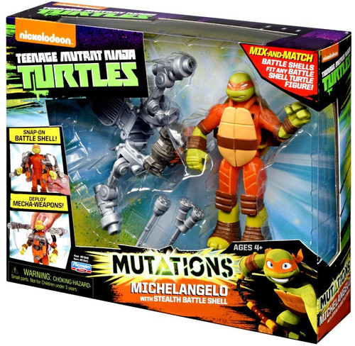 Teenage Mutant Ninja Turtles Nickelodeon Mutations Michelangelo Action Figure [with Stealth Battle Shell]