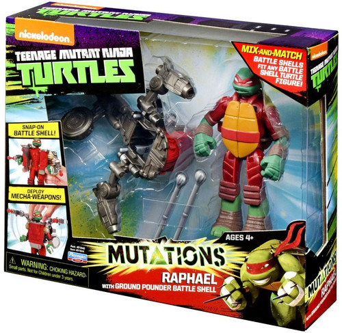 Teenage Mutant Ninja Turtles Nickelodeon Mutations Raphael Action Figure [with Ground Pounder Battle Shell]