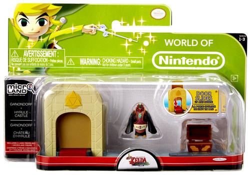 World of Nintendo New Super Mario Bros U Micro Land Playset Hyrule Castle & Ganondorf Playset