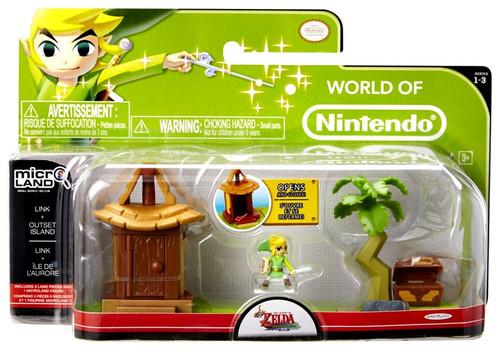 World of Nintendo New Super Mario Bros U Micro Land Playset Outset Island & Link Playset