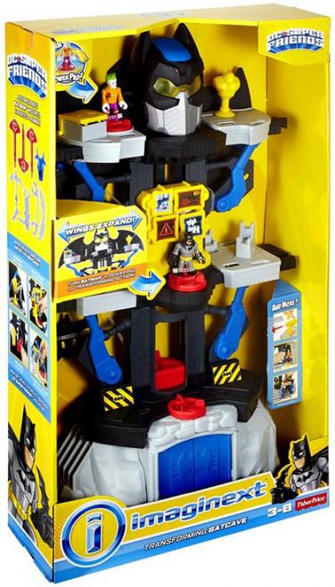 Fisher Price DC Super Friends Imaginext Transforming Batcave 3-Inch Figure Set