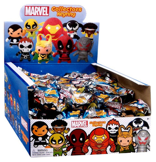 3D Figural Keyring Marvel Series 3 Mystery Box [24 Packs]