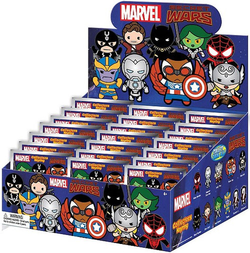 Marvel 3D Figural Keyring Secret Wars Mystery Box [24 Packs]