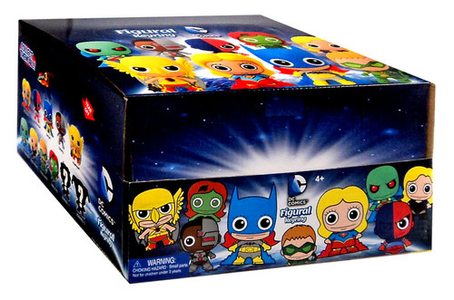 3D Figural Keyring DC Series 3 Mystery Box [24 Packs]