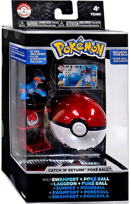 Pokemon Catch n Return Pokeball Swampert & Poke Ball Figure Set