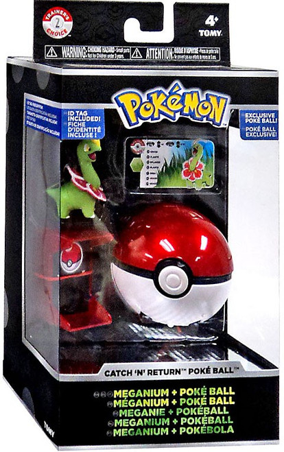 Pokemon Catch n Return Pokeball Meganium & Poke Ball Figure Set