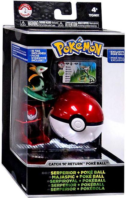 Pokemon Catch n Return Pokeball Serperior & Poke Ball Figure Set