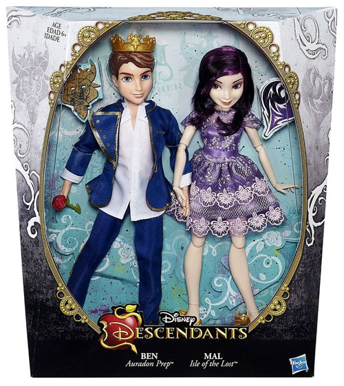 Disney Descendants Ben & Mal 11-Inch Doll 2-Pack