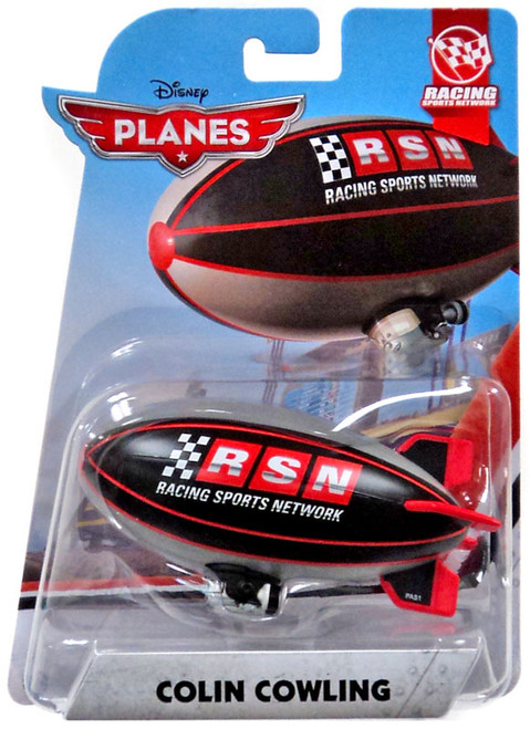 Disney Planes RSN Racing Sports Network Colin Cowling Diecast Plane