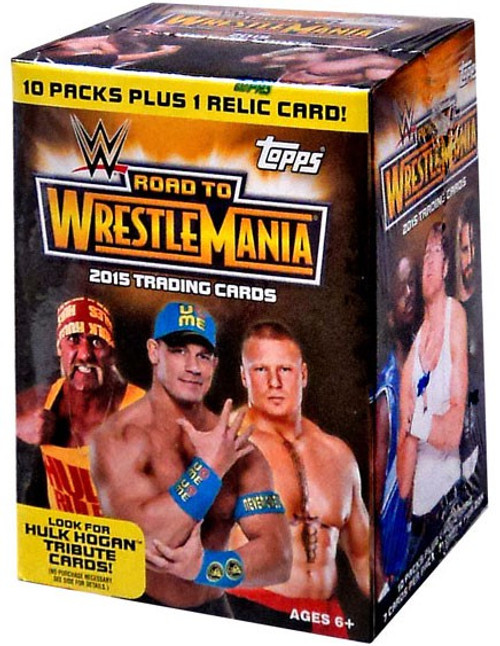 WWE Wrestling Topps 2015 Road to WrestleMania Trading Card BLASTER Box [10 Packs + 1 Relic Card!]