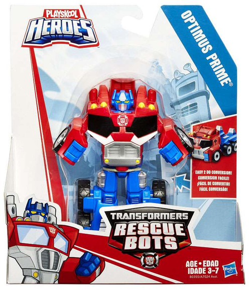 Transformers Playskool Heroes Rescue Bots Optimus Prime Action Figure [Damaged Package, Mint Figures]