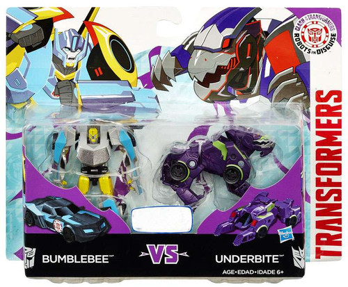 Robots in Disguise Clash of the Transformers Bumblebee vs Underbite Legion Action Figure 2-Pack