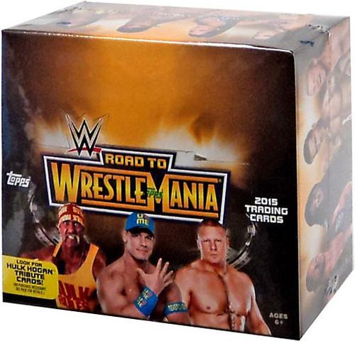 WWE Wrestling Topps 2015 Road to WrestleMania Trading Card HOBBY Box [24 Packs]