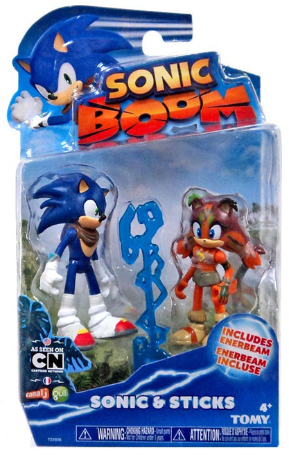 Sonic The Hedgehog Sonic Boom Sonic & Sticks Action Figure 2-Pack