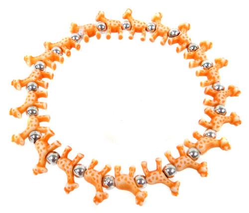 Giraffez Orange Giraffes Bracelet