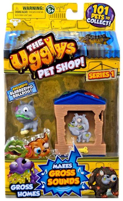 The Ugglys Pet Shop Gross Homes Series 1 Blubbering Bulldog Mini Figure Pack