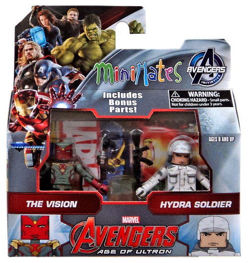 Marvel Avengers Age of Ultron Minimates Series 63 The Vision & Hydra Soldier 2-Inch Minifigure 2-Pack