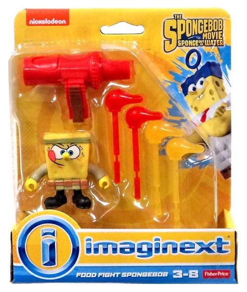 Fisher Price Spongebob Squarepants Imaginext Sponge Out Of Water Food Fight Spongebob Mini Figure