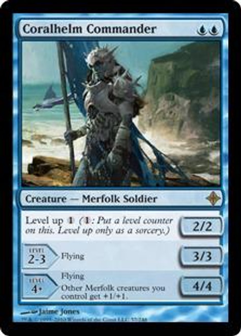 MtG Rise of the Eldrazi Rare Foil Coralhelm Commander #57
