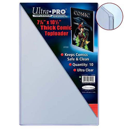 """Ultra Pro Comic Supplies Toploader Series 7 1/8"""" X 10 1/2"""" Toploader Comic Holders [10 Count]"""