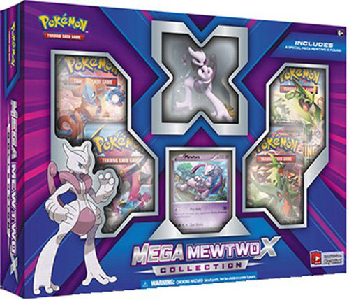 Pokemon Trading Card Game XY BREAKthrough Mega Mewtwo X Collection [4 Booster Packs, Figure & Foil Card!]