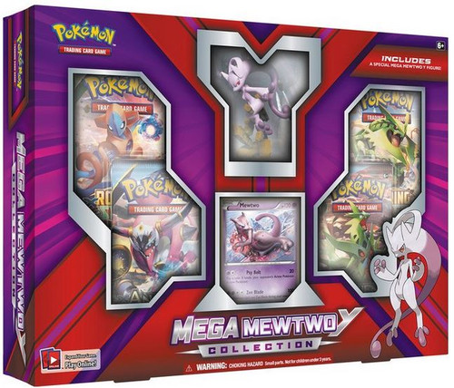 Pokemon Trading Card Game XY BREAKthrough Mega Mewtwo Y Collection [4 Booster Packs, Figure & Foil Card!]