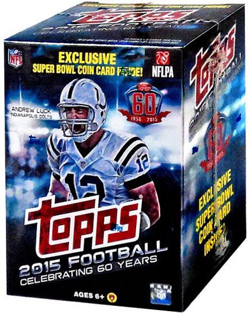 NFL Topps 2015 Football Trading Card BLASTER Box [10 Packs, 1 Super Bowl Coin Card]
