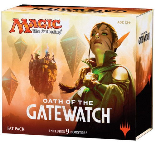 MtG Trading Card Game Oath of the Gatewatch Fat Pack [Includes 9 Booster Packs]