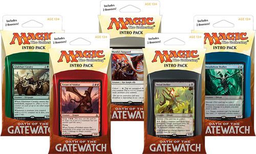 MtG Trading Card Game Oath of the Gatewatch Set of 5 Intro Decks