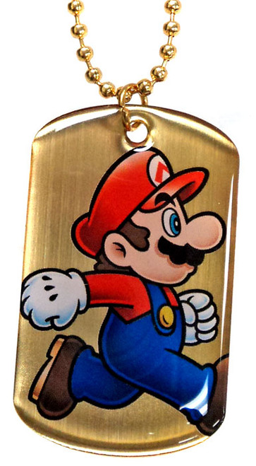 Super Mario Gold Chase 2D Mario Dog Tag G6 [Loose]
