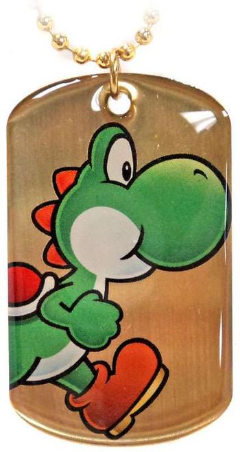 Super Mario Gold Chase 2D Yoshi Dog Tag G8 [Loose]