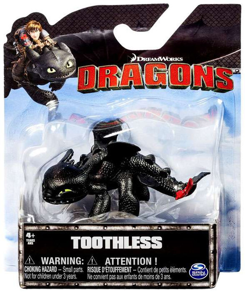 How to Train Your Dragon Dragons Toothless 3-Inch Mini Figure [Head Down / Squinting]