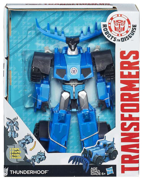 "Transformers Robots in Disguise Hyper Change Heroes Thunderhoof 10"" Action Figure [3-Step Changer]"