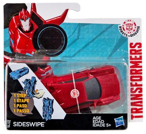 Transformers Robots in Disguise 1 Step Changers Sideswipe Action Figure [2015]