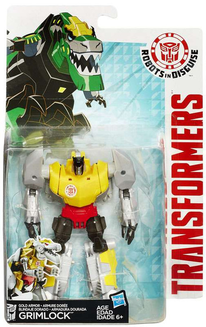 Transformers Robots in Disguise Gold Armor Grimlock Warrior Action Figure