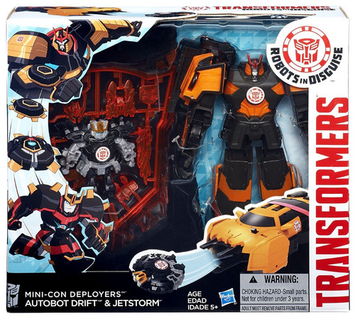 Transformers Robots in Disguise Minicon Deployers Autobot Drift & Jetstorm Action Figure