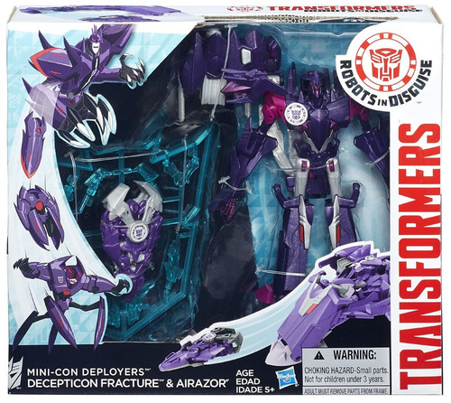 Transformers Robots in Disguise Minicon Deployers Decepticon Fracture & Airazor Action Figure