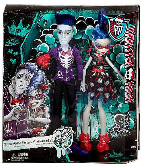 """Monster High Soloman """"Slo Mo"""" Mortavitch & Ghoula Yelps 10.5-Inch Doll 2-Pack [Love's Not Dead]"""