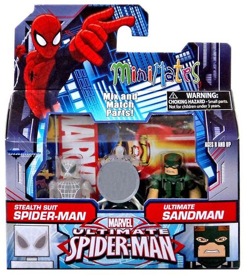 Ultimate Spider-Man Stealth Suit Spider-Man & Ultimate Sandman Exclusive Minifigure 2-Pack