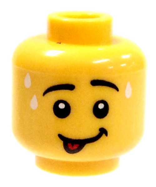 Smiling With Tongue Out Minifigure Head [Yellow Loose]