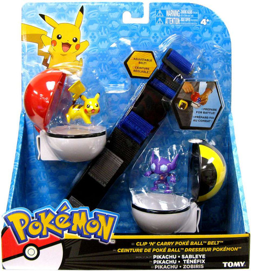 Pokemon XY Pikachu & Sableye Clip 'n' Carry Poke Ball Belt