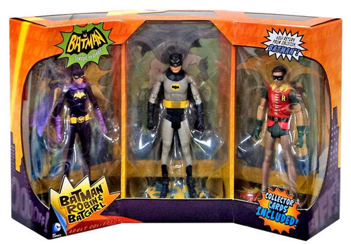 1966 TV Series Batman, Batgirl & Robin Action Figure 3-Pack
