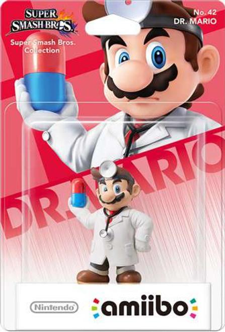 Nintendo Super Smash Bros Amiibo Dr. Mario Mini Figure