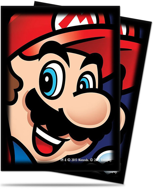 Card Supplies Super Mario Mario Standard Deck Protector Card Sleeves [65 Count]
