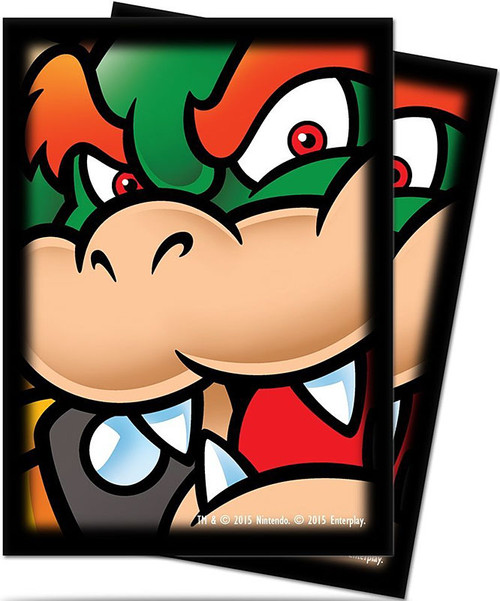 Card Supplies Super Mario Bowser Standard Deck Protector Card Sleeves [65 Count]