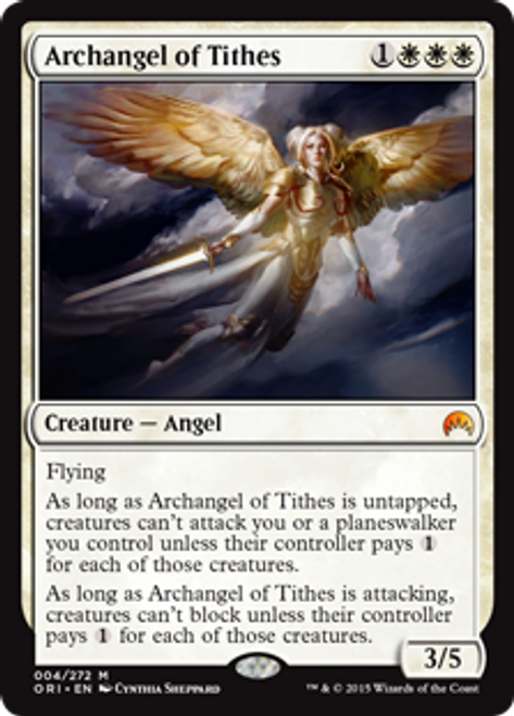 MtG Origins Mythic Rare Foil Archangel of Tithes #4