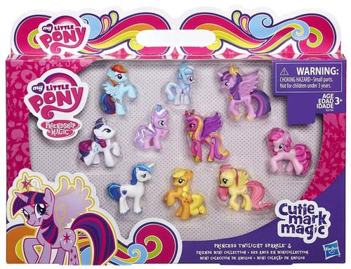 My Little Pony Friendship is Magic Cutie Mark Magic Princess Twilight Sparkle & Friends Exclusive Mini PVC Figure 10-Pack