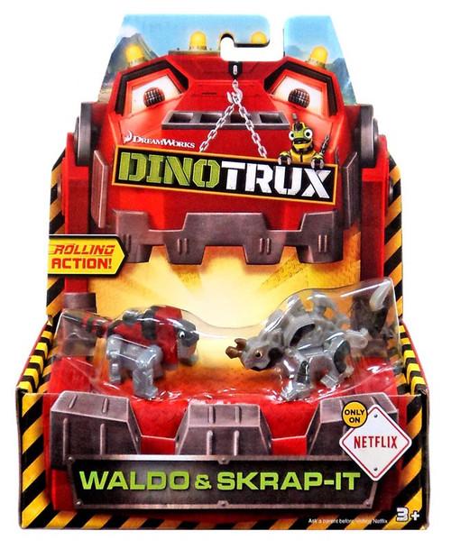 Dinotrux Waldo & Skrap-It Diecast Figure 2-Pack